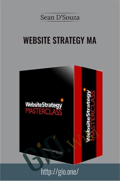 Website Strategy MasterClass - Sean D'Souza