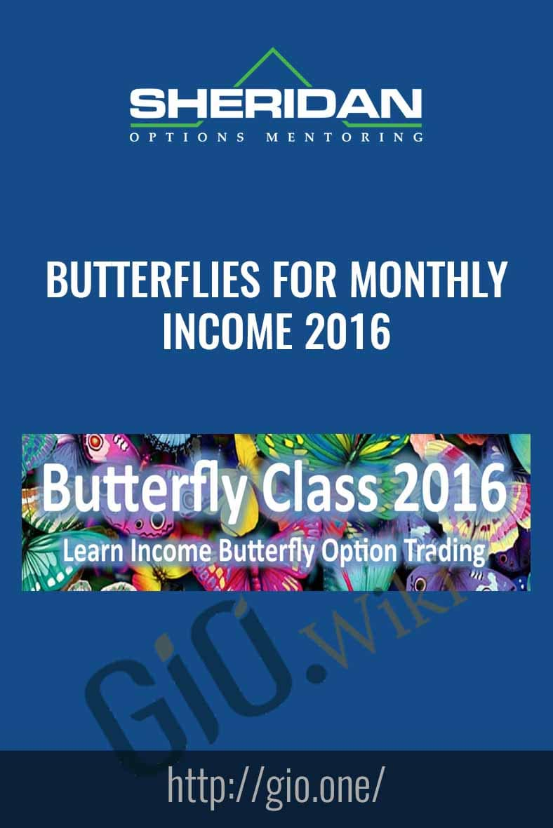 Butterflies for monthly Income 2016 - Dan Sheridan