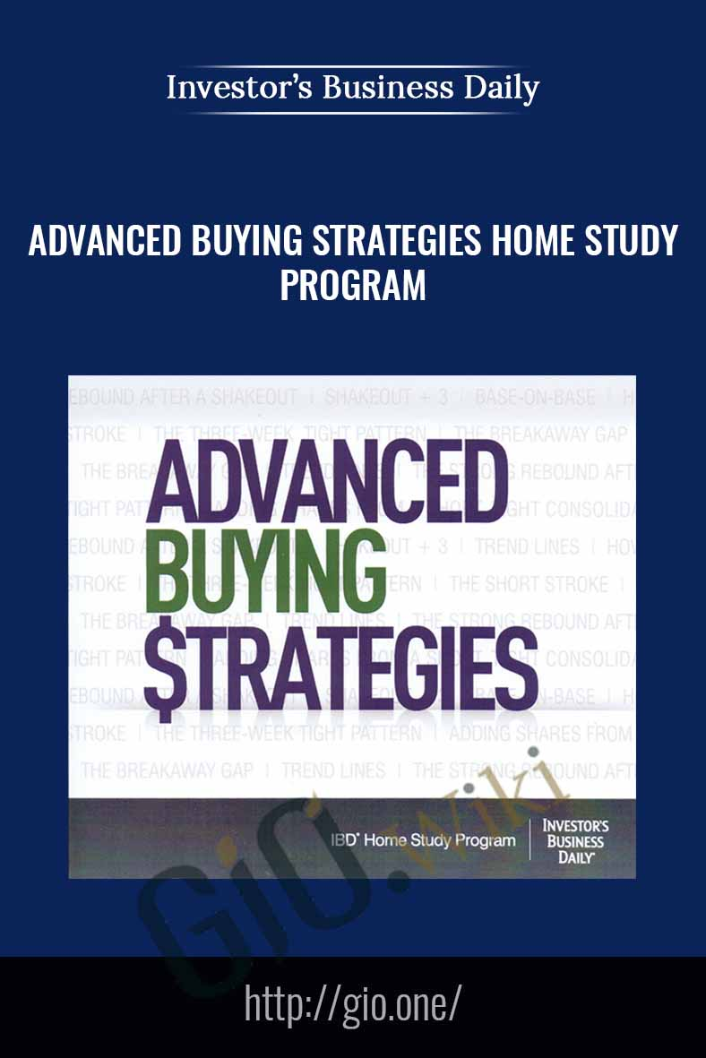 Advanced Buying Strategies Home Study Program - IBD