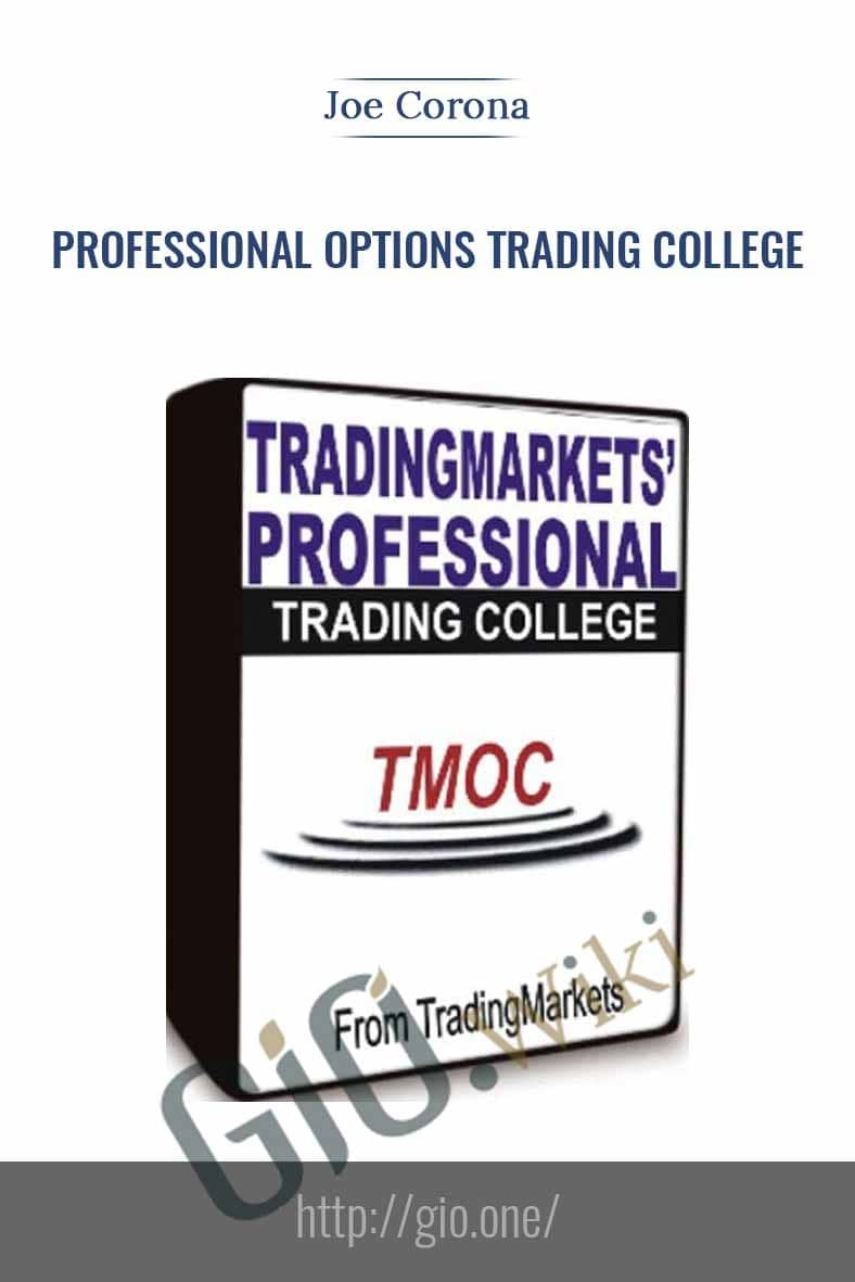 Professional Options Trading College - Joe Corona