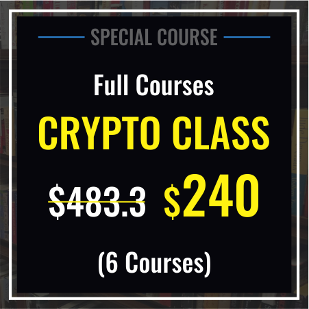 SPECIAL DISCOUNTS. Full Course Crypto Class.