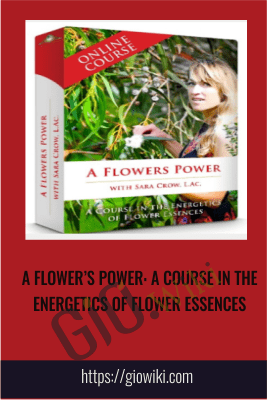 A FLOWER'S POWER: A COURSE IN THE ENERGETICS OF FLOWER ESSENCES - Sara Crow, L.Ac.