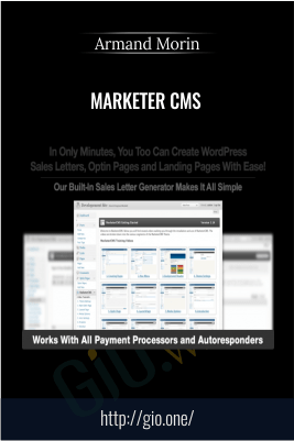 Marketer CMS – Armand Morin