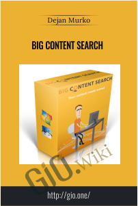Big Content Search – Dejan Murko