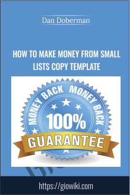 How to Make Money from Small Lists Copy Template - Dan Doberman