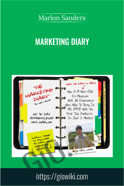 Marketing Diary - Marlon Sanders