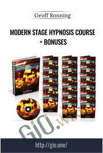 Modern Stage Hypnosis Course + Bonuses – Geoff Ronning