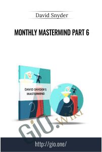 Monthly MasterMind Part 6 – David Snyder