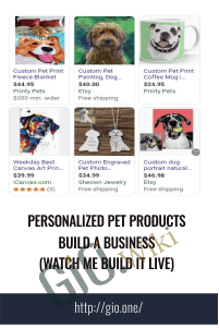 Personalized Pet Products Build A Business (Watch Me Build It LIVE)