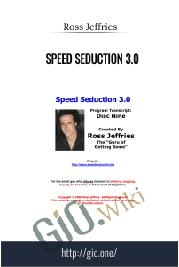 Speed Seduction 3.0 – Ross Jeffries