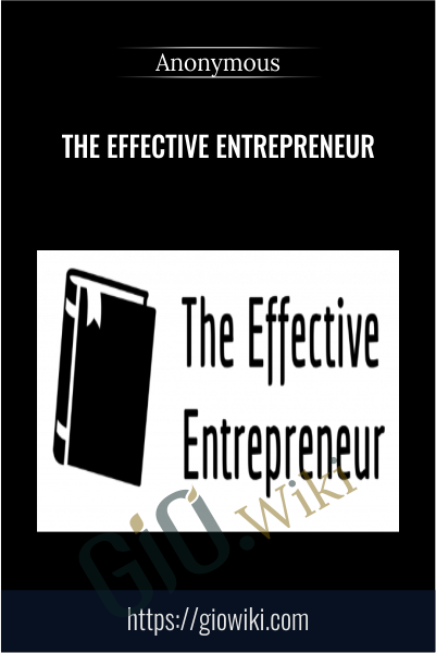 The Effective Entrepreneur