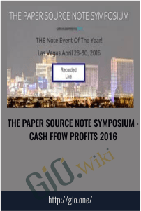 The Paper Source Note Symposium : Cash Ffow Profits 2016