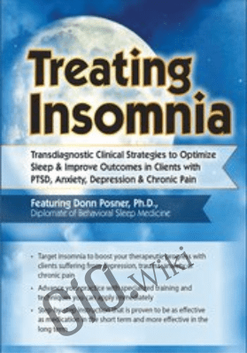 Treating Insomnia: Transdiagnostic Clinical Strategies to Optimize Sleep & Improve Outcomes in Clients with PTSD, Anxiety, Depression & Chronic Pain - Donn Posner