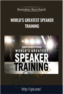 Worlds Greatest Speaker Training – Brendon Burchard