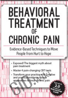 Behavioral Treatment of Chronic Pain: Evidence-Based Techniques to Move People from Hurt to Hope - Martha Teater