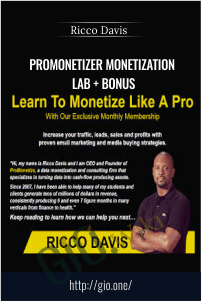 ProMonetizer Monetization Lab + BONUS – Ricco Davis