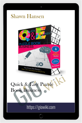 Quick & Easy Puzzle Book Business – Shawn Hansen