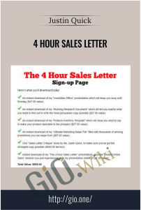 4 Hour Sales Letter - Justin Quick