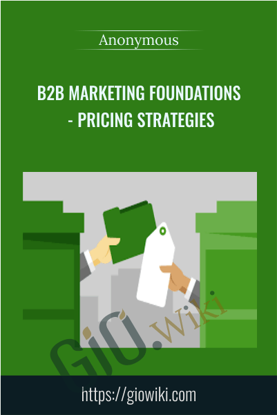 B2B Marketing Foundations - Pricing Strategies