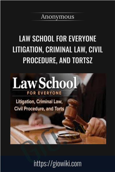 Law School for Everyone Litigation, Criminal Law, Civil Procedure, and Torts