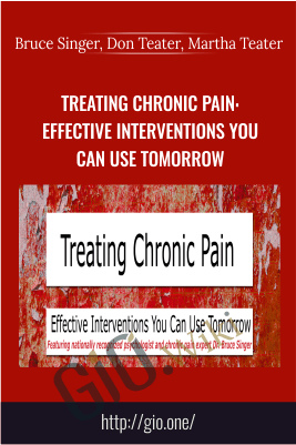 Treating Chronic Pain: Effective interventions you can use tomorrow - Bruce Singer, Don Teater, Martha Teater