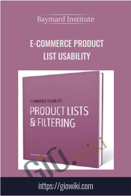 E-Commerce Product List Usability – Baymard Institute