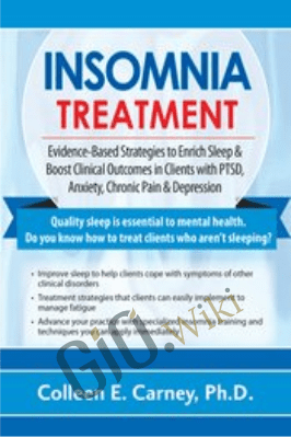 Insomnia Treatment: Evidence-Based Strategies to Enrich Sleep & Boost Clinical Outcomes in Clients with PTSD, Anxiety, Chronic Pain & Depression - Colleen E. Carney