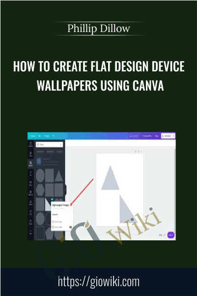 How To Create Flat Design Device Wallpapers Using Canva - Phillip Dillow