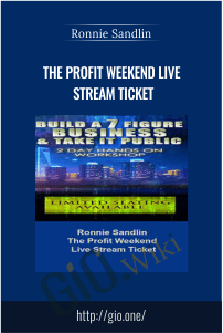 The Profit Weekend Live Stream Ticket – Ronnie Sandlin