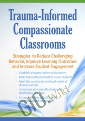 Trauma Informed Compassionate Classrooms: Strategies to Reduce Challenging Behavior, Improve Learning Outcomes and Increase Student Engagement - Jennifer L. Bashant
