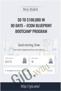 $0 to $100,000 in 90 Days – eCom Blueprint Bootcamp Program – Ben Malol