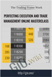 Perfecting Execution and Trade Management Online Masterclass - The Trading Framework