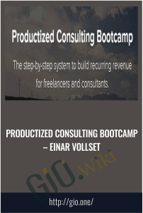 Productized Consulting Bootcamp – Einar Vollset