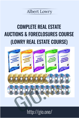 Complete Real Estate Auctions & Foreclosures Course (LOWRY Real Estate Course) - Albert Lowry
