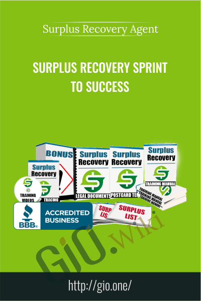 Surplus Recovery Sprint To Success - Surplus Recovery Agent