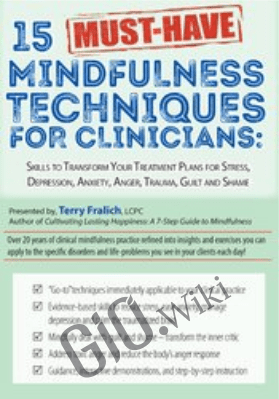 15 Must-Have Mindfulness Techniques for Clinicians: Skills to Transform Your Treatment Plans for Stress, Depression, Anxiety, Anger, Trauma, Guilt and Shame - Terry Fralich