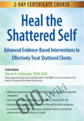 2-Day Certificate Course: Heal the Shattered Self: Advanced Evidence-Based Interventions to Effectively Treat Shattered Clients - Steve A Johnson