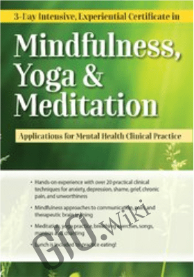 3-day Intensive, Experiential Certificate in Mindfulness, Yoga & Meditation: Applications for Mental Health Clinical Practice - Mary NurrieStearns &  Rick Nurriestearns
