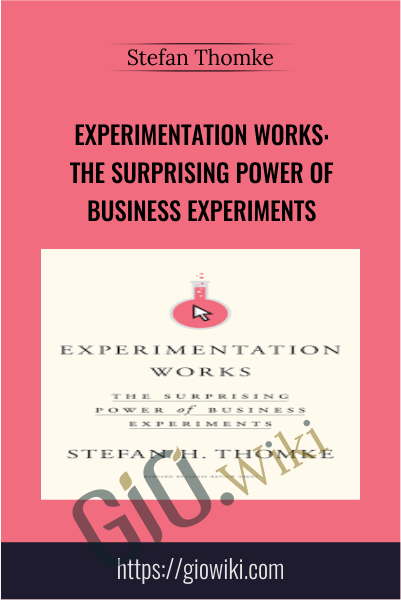 Experimentation Works: The Surprising Power of Business Experiments - Stefan Thomke