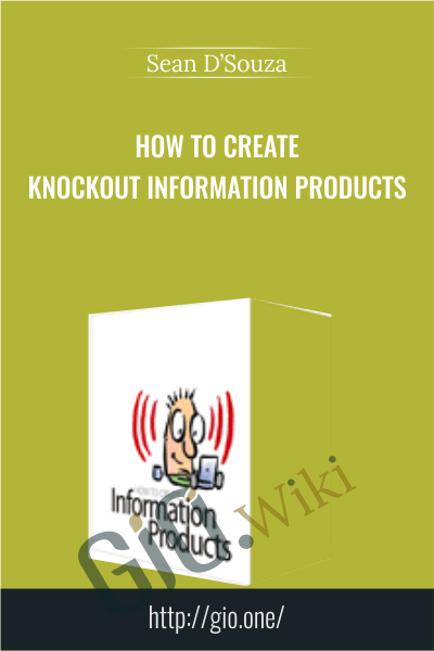 How to create knockout information Products - Sean D'Souza