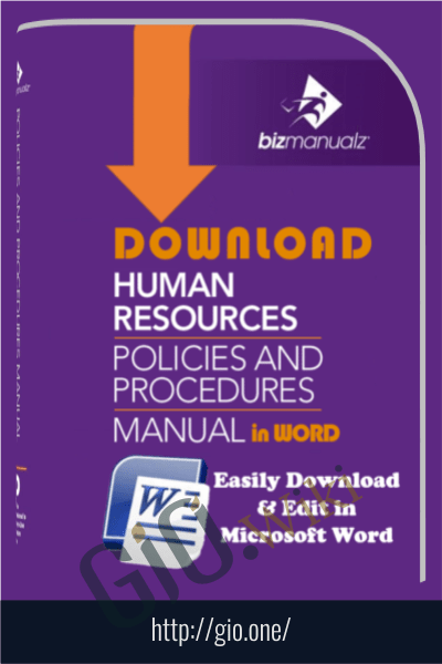 Human Resources Policies and Procedures Template - Bizmanualz