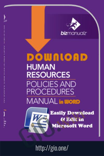 human resources policies and procedures template bizmanualz