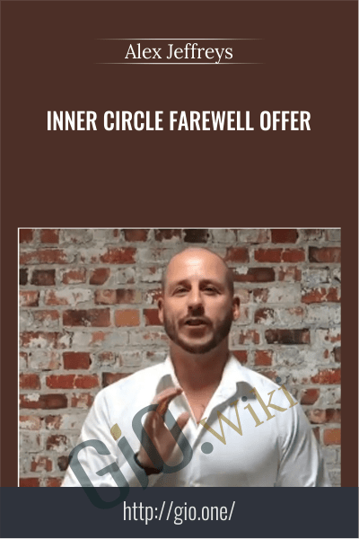 Inner Circle Farewell Offer – Alex Jeffreys