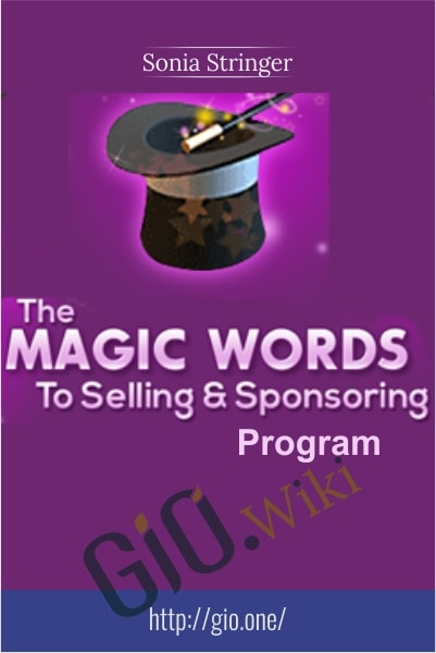 Magic Words to Selling and Sponsoring Coaching Program - Sonia Stringer