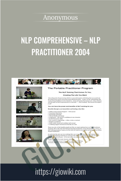 NLP Comprehensive – NLP Practitioner 2004