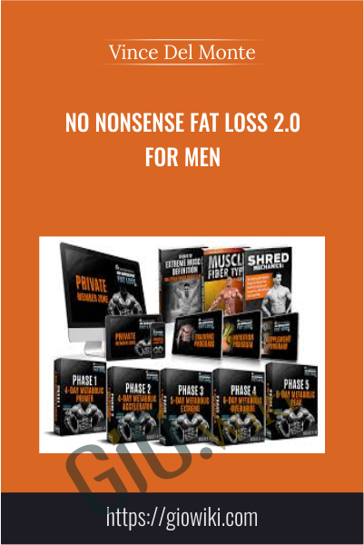 No Nonsense Fat Loss 2.0 FOR MEN - Vince Del Monte