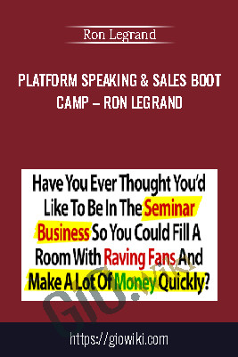 Platform Speaking & Sales Boot  Camp