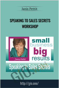 Speaking to Sales Secrets Workshop – Janis Pettit