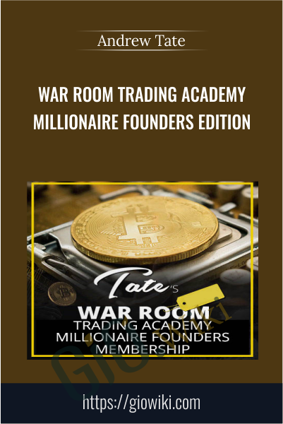 War Room Trading Academy Millionaire Founders Edition - Andrew Tate