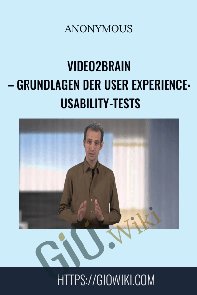 Video2Brain – Grundlagen der User Experience: Usability-Tests